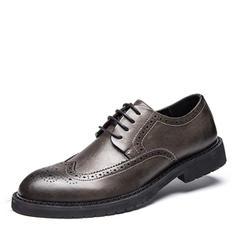 šněrovací Brogue Casual Mikrovlákno Kůže Pánské Pánská obuv Oxford