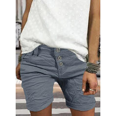 Zakken Shirred Grote maat Boven de knie Casual Elegant Sexy Shorts