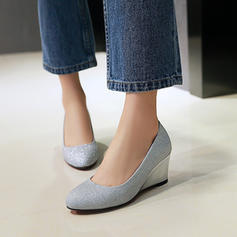 Women's Sparkling Glitter Wedge Heel Pumps Closed Toe Wedges With Others shoes