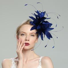 Senhoras Charmosa/Elegante/Fantasia Pena com Pena Fascinators/Kentucky Derby Bonés