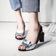 Femmes Similicuir Talon bottier Escarpins À bout ouvert avec Autres chaussures