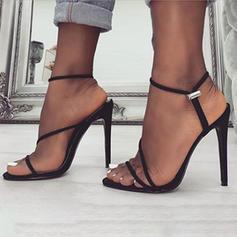 De mujer Tejido Tacón stilettos Sandalias Salón con Banda elástica zapatos