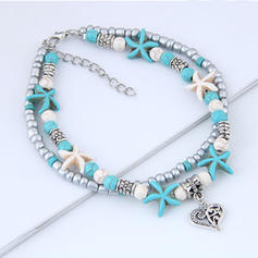 Heart Shaped Alloy Imitation Turquoise Beads Women's (Sold in a single piece)