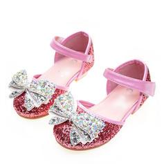 f5fcac55758d8 ... Fille de Glitter mousseux talon plat bout rond Bout fermé Chaussures  plates Chaussures de fille de ...