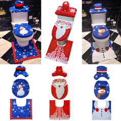 Snowman Santa Christmas Cloth Toilet Seat Cover