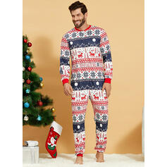Deer Print Familie Matchende Jul Pyjamas