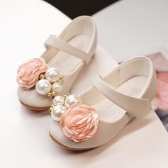 Pentru fete Imitaţie de Piele Deget rotund Închis la vârf Balerini cu Floare din Satin Scai