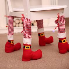 Feliz Navidad Tela no tejida Cubierta del pie de la silla