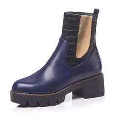 Femmes Similicuir Talon bottier Plateforme Bottes avec Semelle chaussures