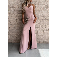 Sólido/Escotado por detrás Sin mangas Cubierta Camisón Sexy/Fiesta Maxi Vestidos