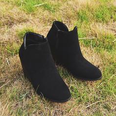 Vrouwen Suede Wedge Heel Laarzen schoenen