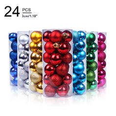 "Merry Christmas 24 PCS 1.18"" PVC Christmas Décor Ball (Set of 24)"