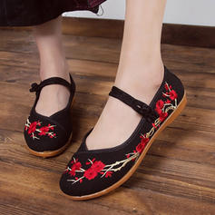 Fabric Flat Heel Flats With Flower shoes