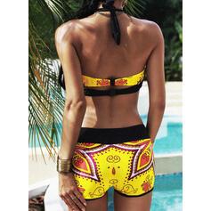 Print Halter Sexy Grote maat Boho Bikini's Badpakken