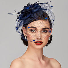 Dames Glamour/Simple/Fait main/Accrocheur Feather/Fil net avec Feather/Tulle Chapeaux de type fascinator