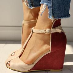 De mujer PU Tipo de tacón Salón con Hebilla zapatos