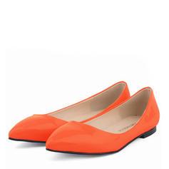 Femmes Cuir verni Talon plat Chaussures plates Bout fermé avec Autres chaussures