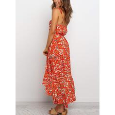 Print/Floral Sleeveless A-line Sexy/Casual/Boho/Vacation Midi Dresses