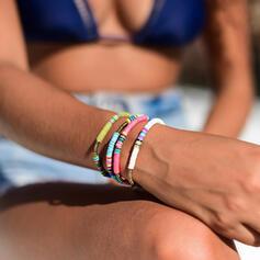 Exotisch Boho Legering Rubber Touw Sieraden Sets Armbanden (Set van 5)