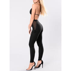 Solid Long Long Skinny Solid Pants