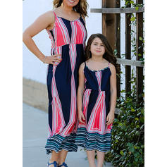 Mommy and Me Print Matching Dresses