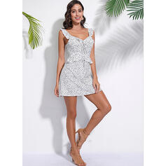 PolkaDot Sleeveless A-line Above Knee Casual/Vacation Dresses