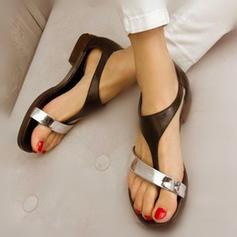 Dámské PU Placatý podpatek Sandály Boty Bez Podpatku S Ostatní obuv