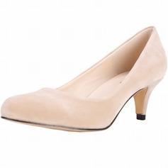 Femmes Suède Talon cône Escarpins Bout fermé chaussures