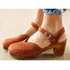 Femmes PVC Talon bottier Escarpins avec Boucle chaussures