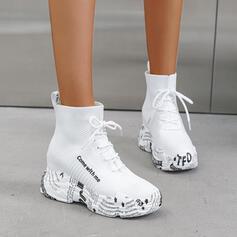 Bayanlar bez Dış mekan atletik Ile Bağcıklı ayakkabı ayakkabı