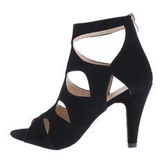 Dla kobiet PU Obcas Stiletto Czólenka Otwarty Nosek Buta Z Nadruk Zwierzęcy Zamek błyskawiczny obuwie