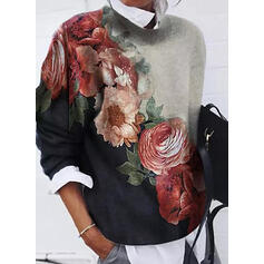 Inmprimé Floral Col rond Manches longues Sweat-shirts