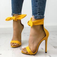 Femmes Suède Talon stiletto Sandales À bout ouvert chaussures