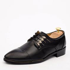 Cap Toes Dentelle Chaussures habillées Cuir en Microfibre Hommes Chaussures Oxford pour hommes