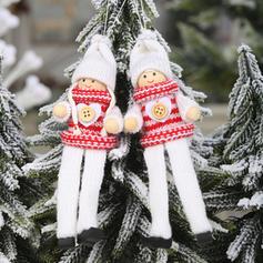 Gnome jul Engel hengende Klut Trehengende ornamenter Dukke (Sett med 2)