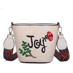 Charming Straw Beach Bags/Bucket Bags