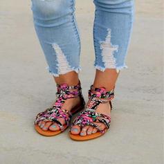 Naisten Mikrokuituliina Nahka Matalakorkoiset Heel Sandaalit Matalakorkoiset Peep toe jossa Muut kengät