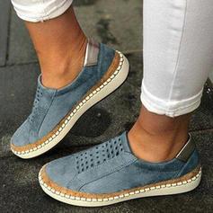 Mulheres PU Casual Outdoor com Oca-out sapatos