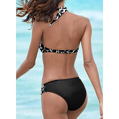 Taille Basse Imprimé Faire monter Dos Nu Sexy Élégante Bikinis Maillots De Bain