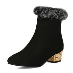 Femmes Similicuir Talon cône Bottes chaussures