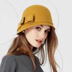 Señoras' Hermoso Madera con Bowknot Bombín / cloché Sombrero