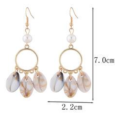 Stylish Simple Shell Alloy Women's Earrings