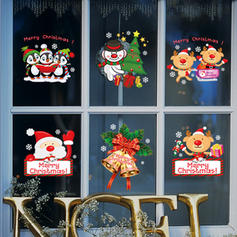 Modern Classic Christmas Any Shape Wall Stickers Set of 6
