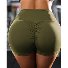 Sólido Casual Sexy Deportivo Pantalones cortos