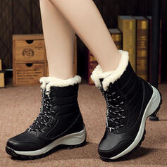 Women's Canvas Wedge Heel Wedges Boots With Lace-up shoes