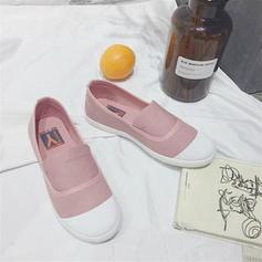 Femmes Toile Talon plat Chaussures plates Bout fermé chaussures