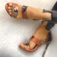 Naisten PU Piikkikorko Sandaalit Peep toe kengät