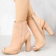Women's PU Chunky Heel Pumps Peep Toe With Others shoes