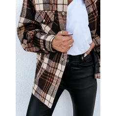 Stampa Risvolto Maniche lunghe Bottone Casuale Shirt and Blouses