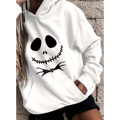 Animal Print Halloween Long Sleeves Hoodie